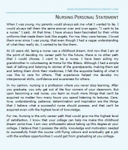 personal essay on becoming a nurse