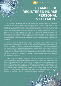 example of registered nurse personal statement