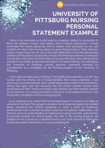 university of pittsburg nursing personal statement example