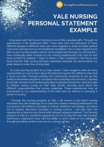yale nursing personal statement example