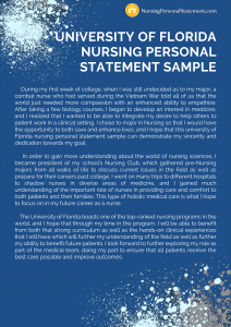 university of florida nursing personal statement sample