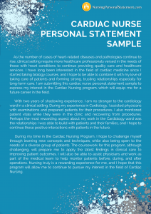 cardiac nurse personal statement sample